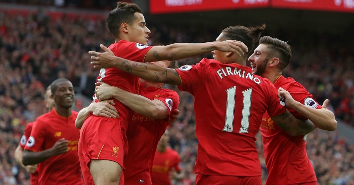 Liverpool: Celebrate Adam Lallana's opener against Hull