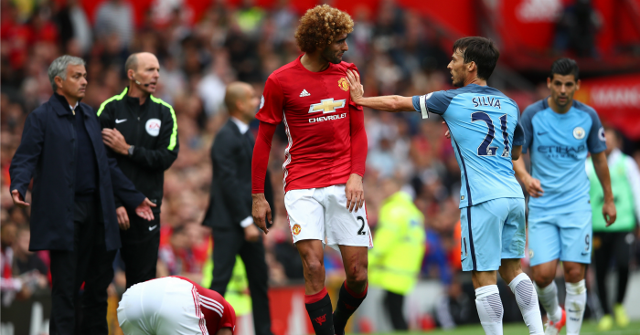 Marouane Fellaini: Midfielder squares up to Silva