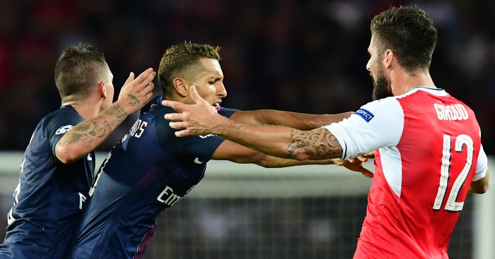 Olivier Giroud: Clashes with Marco Verratti