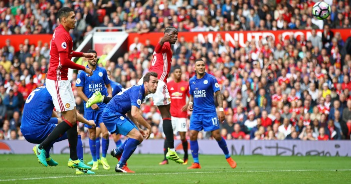 Paul Pogba: Heads in his first Man Utd goal