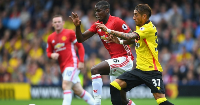 Paul Pogba: Struggled in Man Utd's midfield