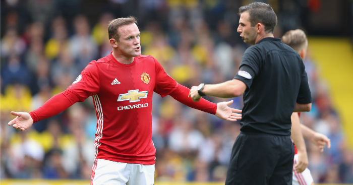 Wayne Rooney: Played first half in a midfield three