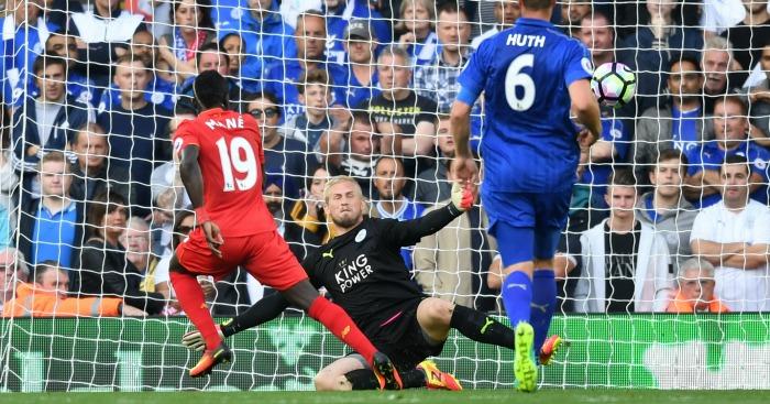 Sadio Mane scores Liverpool v Leicester