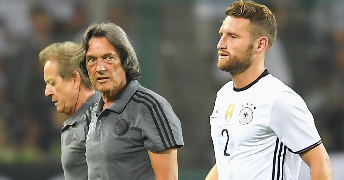 Shkodran Mustafi: Limps off against Finland