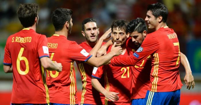 Spain: Celebrate David Silva's goal