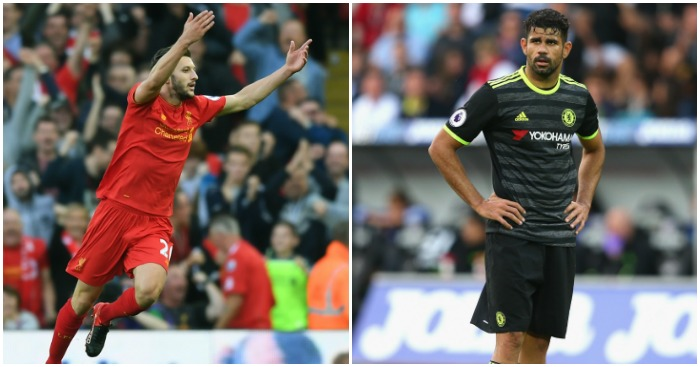 Lallana and Costa: Surprising stats