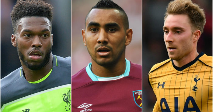 Sturridge, Payet & Eriksen: No PL goals to their names