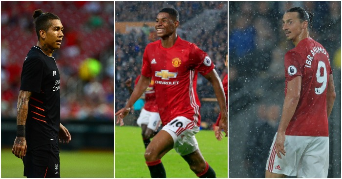 Firmino, Rashford and Zlatan: Expected to shine