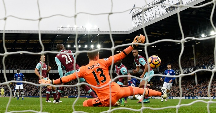 Adrian save West Ham