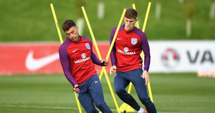 Alex Oxlade-Chamberlain: Midfielder in England training