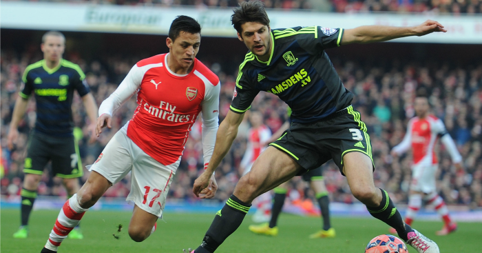 Alexis Sanchez & George Friend: Duo clash last year
