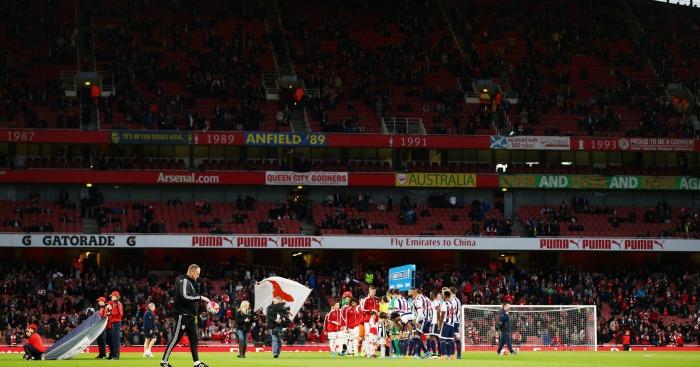 Arsenal: Empty seats