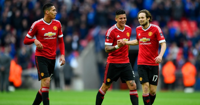 Unwanted: Chris Smalling, Marcos Rojo & Daley Blind