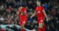 Coutinho and Henderson: Denied victory at Anfield