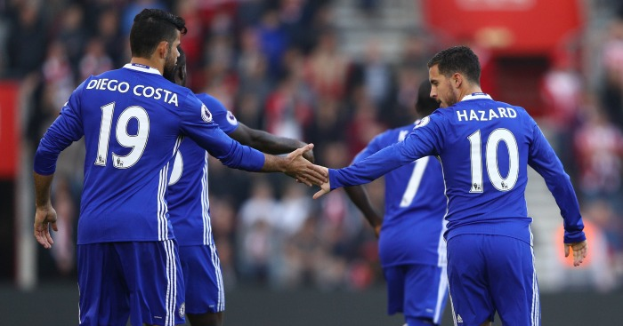Diego Costa: Wants to keep partnership with Hazard