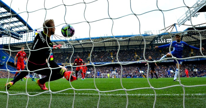 Diego Costa scores Chelsea v Leicester