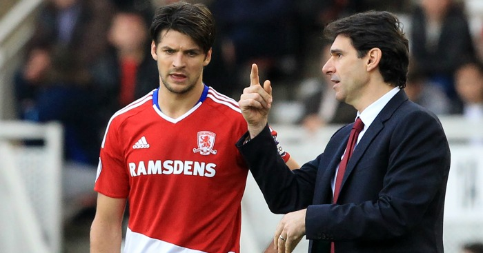 George Friend: Talks tactics with Aitor Karanka