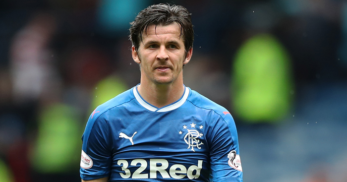 Joey Barton: Midfielder was suspended by Rangers