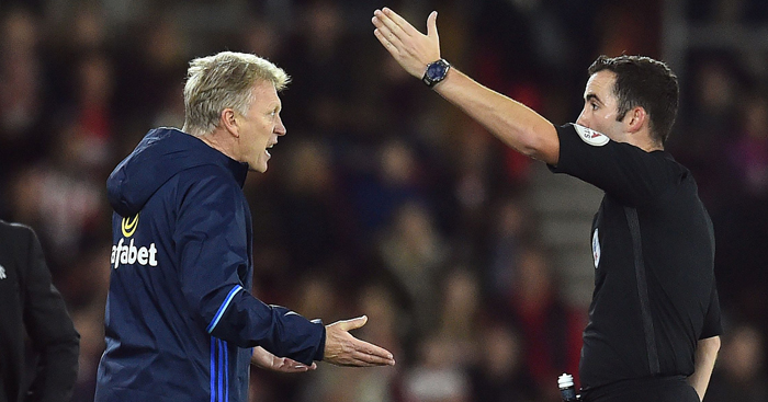David Moyes: Upset at lack of a penalty for his side