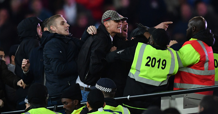 Disturbances: Ugly scenes at London Stadium