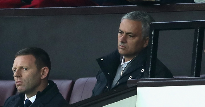 Jose Mourinho: Forced to watch second half from stand