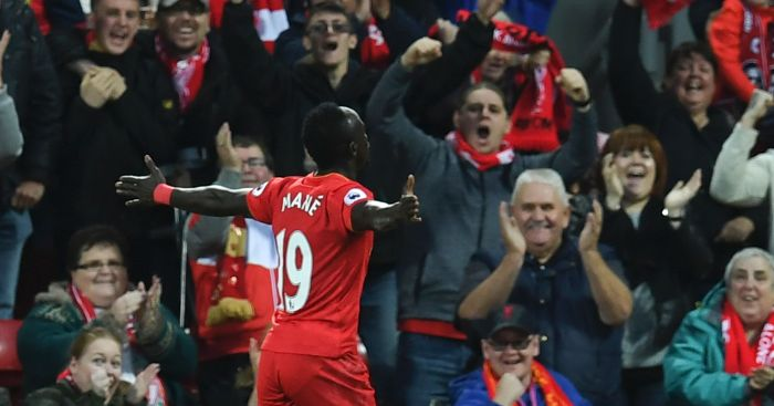 Sadio Mane: Forward celebrates opening goal
