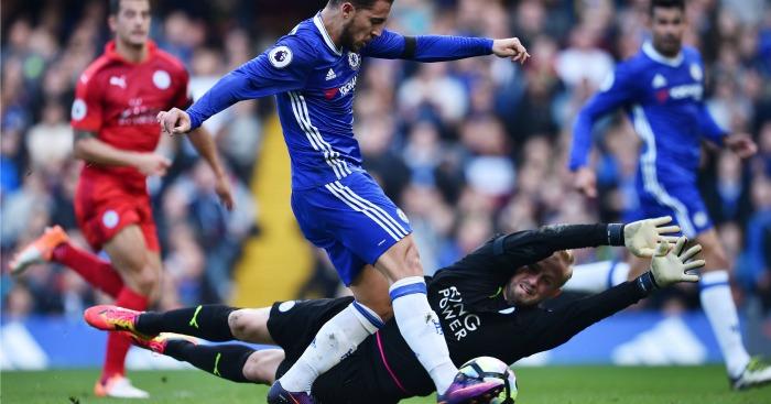 Hazard scores Chelsea v Leicester