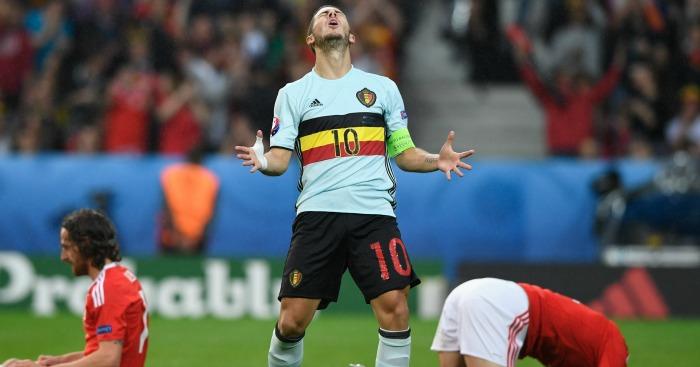 Eden Hazard: Angered Courtois