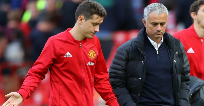 Herrera and Mourinho: Unhappy after Stoke draw