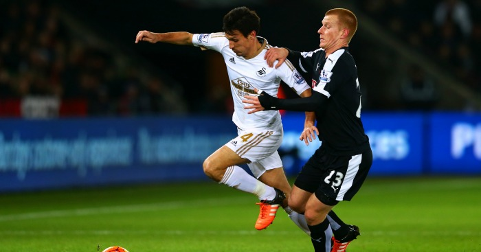 Jack Cork: Midfielder battles with Ben Watson
