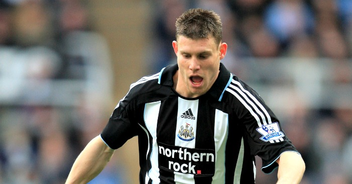James Milner: In action for Newcastle in 2008