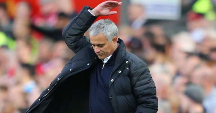 Jose Mourinho: Shows his frustrations against Stoke