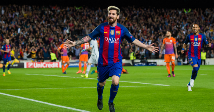 Lionel Messi: Forward celebrates opening goal