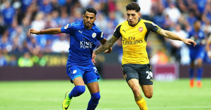 Riyad Mahrez: Winger in action against Arsenal this term