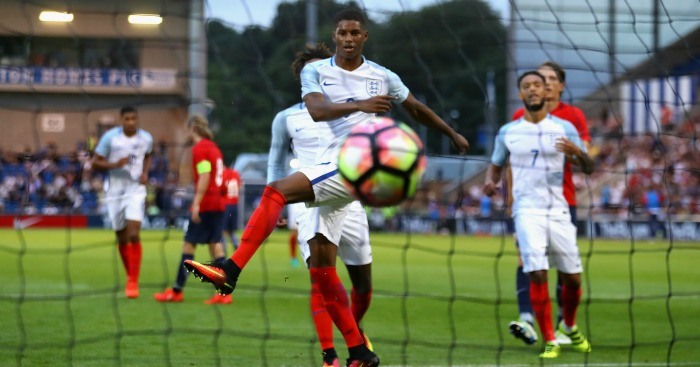 Marcus Rashford: Striker bagged hat-trick on U-21 debut