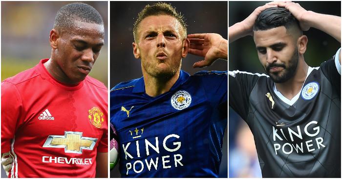 Martial, Vardy & Mahrez: Struggling for form this season
