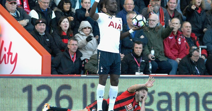 during the Premier League match between AFC Bournemouth and Tottenham Hotspur at Vitality Stadium on October 22, 2016 in Bournemouth, England.