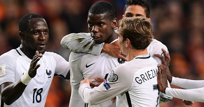 Paul Pogba: On target for France on Monday