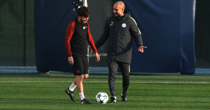 Pep Guardiola David Silva Man City