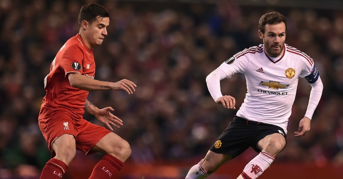 Coutinho & Mata: key players in Monday's match