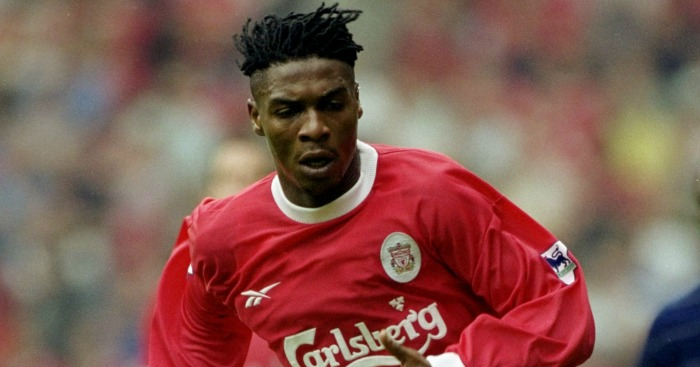 Rigobert Song: In action for Liverpool in 1999