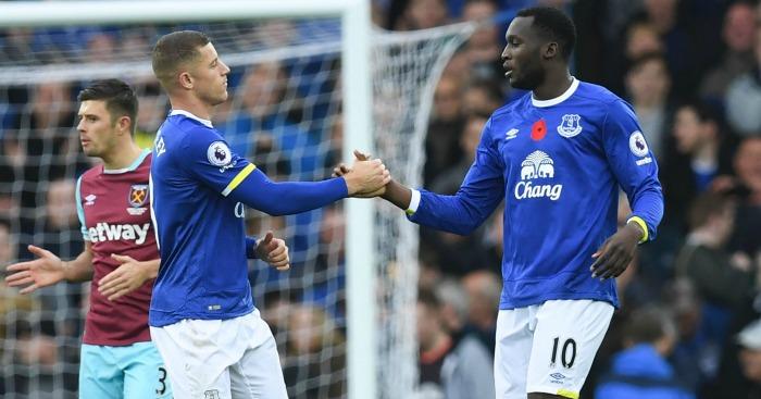 Ross Barkley and Romelu Lukaku: Both netted for Everton
