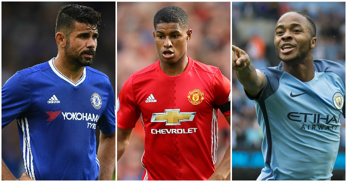 Costa, Rashford, Sterling: Among most accurate finishers
