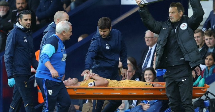 Toby Alderweireld: Stretchered off at The Hawthorns