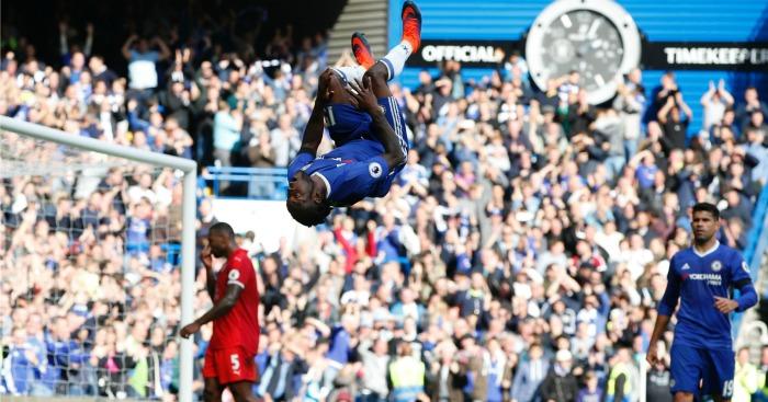 Victor Moses celebrates Chelsea