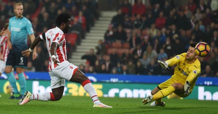Wilfried Bony: Striker scores Stoke opener