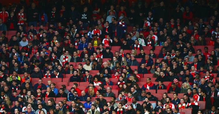 arsenal empty seats