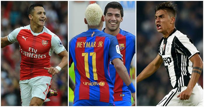 Alexis, Neymar, Suarez & Dybala: Contenders?