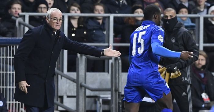 Claudio Ranieri: Gives instructions on touchline