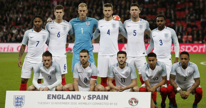 England's starting XI to face Spain
